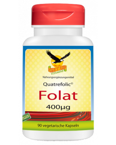 Folsäure Quatrefolic© 400µg, 90 Kapseln - Methylfolat bioaktiv