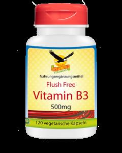 Vitamin B3 Niacinamid 500mg VEGGY, 120 Kapseln