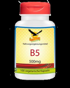 Vitamin B5 Pantothensäure 500mg, 100 Kapseln
