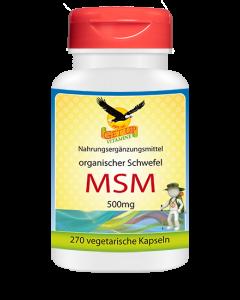 MSM organischer Schwefel 500mg, 270 veg. Kapseln