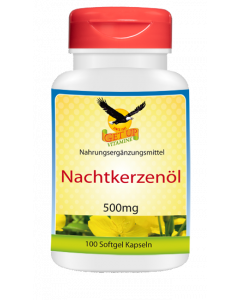 Nachtkerzenöl (Vitamin F) 500 mg, 300 Kapseln