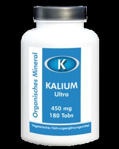 Kalium Ultra 450mg, 180 Tabs - Organisches Kalium (Potassium) bioverfügbar & VEGGY
