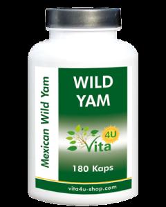 Wild Yam Wurzel Extrakt,  180 Kapseln   vegan & hochdosiert   150mg Diosgenin pro Tagesverzehr