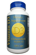 Vitamin D3 50000 IE, 100 veg. Kapseln - für Stosstherapie & Depot